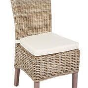 Pair of Wicker Chairs with cushion