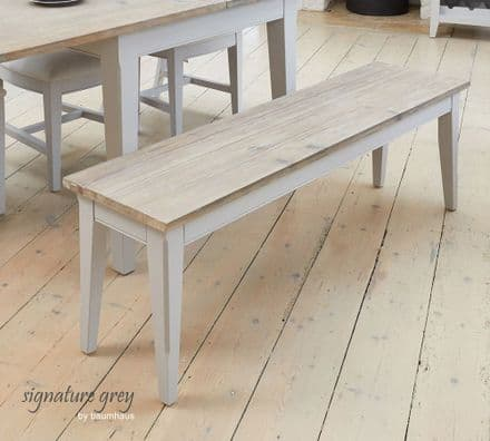 Signature Grey Large Bench