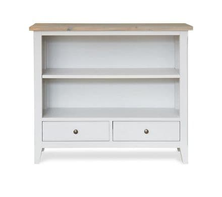 Signature Grey Painted 2 Drawer Low Bookcase