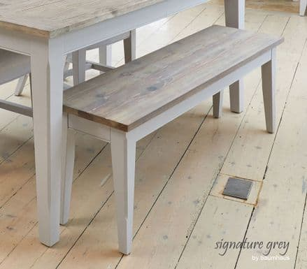 Signature Grey Small Bench