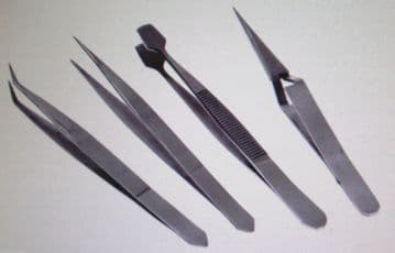 4 Piece Precision Tweezer Set