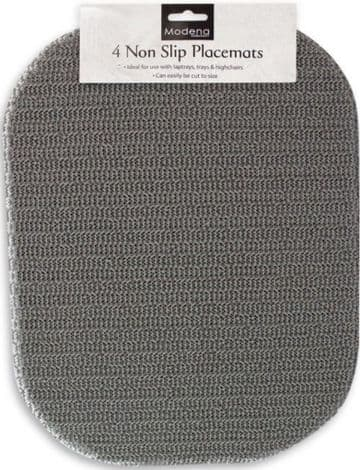 4 x Anti Non Slip Place Mat 40x30cm Grey