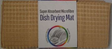 Biscuit Microfibre Dish Drying Mat 50x38cm Sink Drainer Washing Up