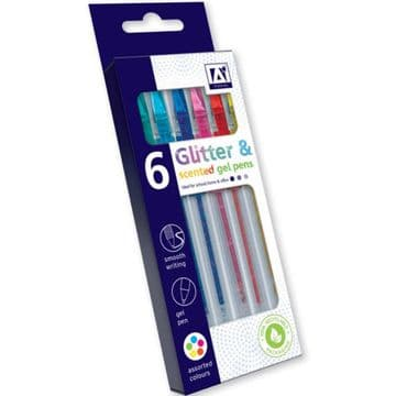 Glitter Scented Gel Pens School Office Stocking Filler