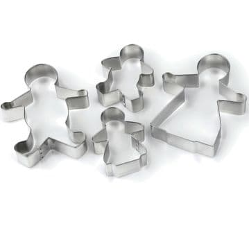Tala Gingerbread Family Man Kids Cookie Cutters Stainless Steel