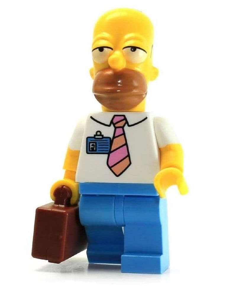 Homer Simpson Minifigureswith Suitcase