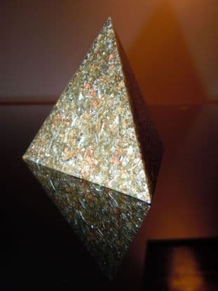 5G Optimised Geo Orgone & Tetrahedron Pyramid Chakra Yin Yang Psychic Attack Monatomic Gold Orme