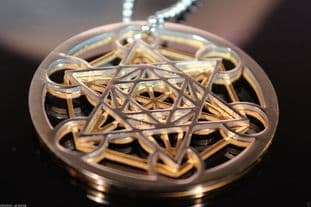 5G PROTECTION - Metatrons Cube Pendant Clearing & Protection Sacred Geometric Symbol Metatron