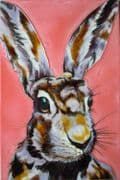 """Another Mad Hare Day Sam Fenner Decorative Ceramic Tile 8"""" x 12"""" Wall Art"""