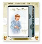 Boys First Holy Communion Gift Set Book and Pen