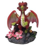 Cute Apple Dragon Statue Sculpture Figure Dragons Lover Gift Idea