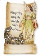 Guardian Angel Religious Grave Memorial Plaque Graveside Statue Sculpture