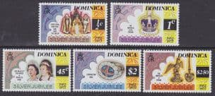 DOMINICA - 1977 Silver Jubilee - Perf 12x11½ (5v) - UM / MNH