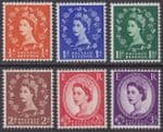 GREAT BRITAIN - 1957 Definitives ½d - 3d Graphite Lined Issue (6v) - UM / MNH