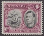 GRENADA - 1938 6d. Black and Purple Perf12½ MM / MH