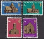GUERNSEY 1970 Christmas. Guernsey Churches I (4v) - UM / MNH