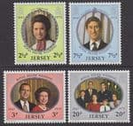 JERSEY - 1972 Royal Silver Wedding (4v) - UM / MNH