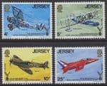 JERSEY - 1975 50th Anniversary of Royal Air Forces Association (4v) - UM / MNH