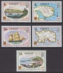 JERSEY - 1978 Links with Canada (5v) - UM / MNH