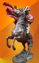 STUNNING COLD PAINTED NAPOLEON ON HORSE BRONZE STATUE