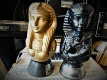 2 X COLLECTABLE EMPTY BOTTLES ELLICOR DE SINUHE CLEOPATRA & TUTANKHAMUN