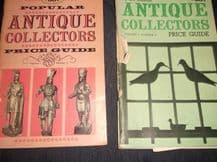 2 X VINTAGE PB BOOKS POPULAR ANTIQUE COLLECTORS PRICE GUIDE VOL1 NUMBERS 1 & 3