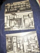 3 X VINTAGE POSTCARDS MILTONS COTTAGE UNPOSTED & DICKENS' HOUSE POSTED 1930