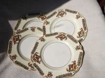 4 X VINTAGE VERY PRETTY MINERVA SIDE PLATES JOHN MADDOCK BOLD FRUIT BASKET RIM
