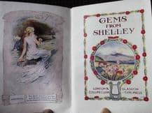 ANTIQUE MINI BOOK GEMS FROM SHELLEY ILLUSTRATED FRONT COLLINS CLEAR TYPE GILT