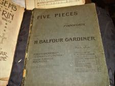 ANTIQUE SHEET MUSIC BOOKLET FIVE PIECES FOR PIANOFORTE H BALFOUR GARDINER 1911