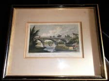 ANTIQUE SMALL TINTED PRINT THOMAS H SHEPHERD MACCLESFIELD BRIDGE REGENTS PK ACON