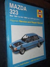 COLLECTABLE 1996 HB 1608 HAYNES WORKSHOP MANUAL MAZDA 323 1981 - 1989