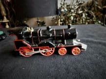 "COLLECTABLE BLACK DIE CAST LOCOMOTIVE TRAIN MOVING WHEELS 6"" #1"