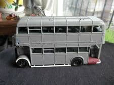 COLLECTABLE CORGI DIE CAST UTILITY BUS TO BE COMPLETED BASIC GREY UNPAINTED