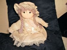 COLLECTABLE DOLL SALCO LITTLE MEADOW ? MUSICAL MOVING HEAD MOP HAT LILAC HAIR