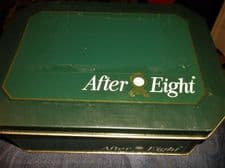 """COLLECTABLE EMPTY TIN GOOD SIZE AFTER EIGHT CHOCOLATE MINTS 10.25"""" X 7.75"""" 600g"""