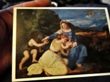 COLLECTABLE POSTCARD NATIONAL GALLERY TITIAN MADONNA AND CHILD 1201