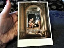 COLLECTABLE POSTCARD THE ROYAL COLLECTION JAN STEEN MORNING TOILET