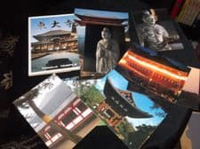 COLLECTION 11 GLOSS COLOUR POSTCARDS IN WALLET ALL NEW TODAIJI TEMPLE