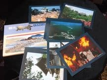 COLLECTION 12 GLOSS COLOUR POSTCARDS IN ANDO HIROSHIGE WALLET OKAZAKI ALL NEW