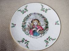 ELEGANT GILDED DISPLAY PLATE ROYAL DOULTON CHRISTMAS 1978 EX COND 8.5""