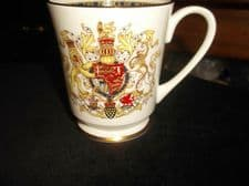 ELEGANT GILDED MUG AYNSLEY CHINA PRINCES OF WALES INVESTITURE 1969