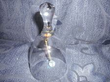 "ELEGANT LEAD CRYSTAL GLASS BELL & SPARKLY CRYSTAL CLANGER 4.5"" HIGH"