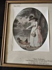 FRAMED GLAZED TINTED PRINT PLATE XVII RUSTIC EMPLOYMENT JR SMITH GEORGE MORLAND