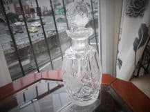 HEAVY WATERFORD DEEP CUT LEAD CRYSTAL GLASS DECANTER & GLOBE PRISM STOPPER