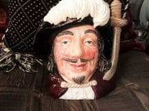 """LARGE COLLECTABLE ROYAL DOULTON CHARACTER TOBY JUG PORTHOS D6440 1955 7.5"""""""