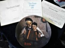 LIMITED EDITION KNOWLES DISPLAY PLATE NORMAN ROCKWELL THE MUSIC MAKER + CERTS