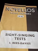 NOVELLOS MUSIC PRIMERS BOOKLET SIGHT SINGING TESTS 108 I REES DAVIES