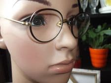 PAIR ANTIQUE SPECTACLES HORN LOOK RIMS - UNTESTED - SPRINGY HOOK ARMS + OLD CASE