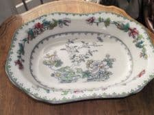 RARE ANTIQUE OBLONG DISH HANDPAINTED INDIAN TREE DESIGN COPELAND LATE SPODE
